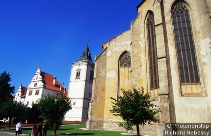 Gothic church of St James and Renaissance Gothic Town Hall (1551). Levoca, East, Slovakia