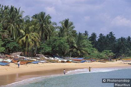 Sri Lanka, Tangalla, Strand, Boote, Angler Südasien, Insel, Inselstaat, Provinz Southern, Küste, Tangalle, Sandstrand, Fischerboote, Meer, Indischer Ozean, Männer, Fischen, Angeln, Fischfang