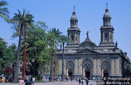 Chili, Santiago, place d'Armes, cathédrale