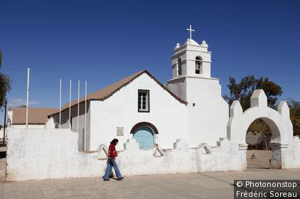 Chili, San Pedro de Atacama, l'église du village