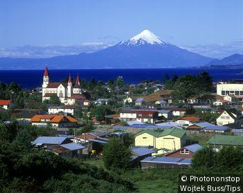Scenic puerto varas & osorno volcano, Chile.