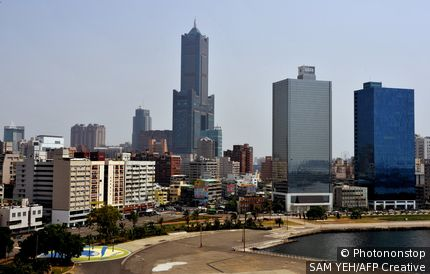 Taiwan, Kaohsiung, downtown area, general view