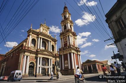 ARGENTINE, SALTA, EGLISE ST-FRANCOIS, RUE