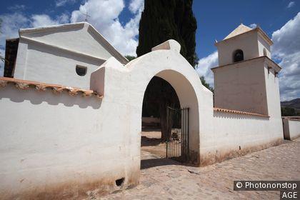 Argentina, Jujuy Province, Quebrada de Humamuaca canyon, Uquia, 17th century church, exterior