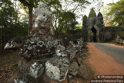 Cambodia, Siem Reap, Angkor Thom, North Gate