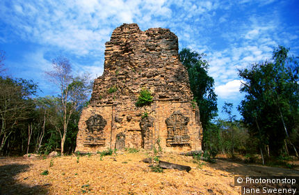 Pre-Angkorian ruins of Sambor Prei Kuk Prasat Sambor complex.