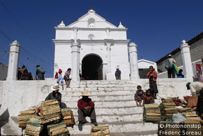 Guatemala, Chichicastenango, église Santo Tomas