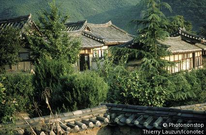 Corée du Sud, village de Hahoe, maisons patriciennes