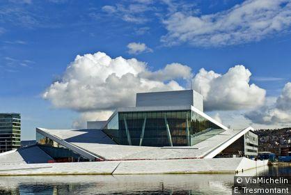 Le nouvel opéra d'Oslo a été inauguré en avril 2008.