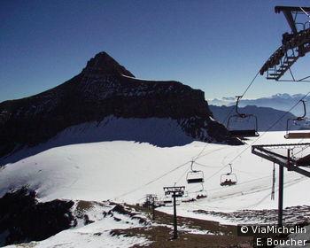 Le Glacier des Diablerets ou Glacier 3000 à 3209 m d'altitude
