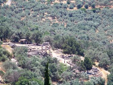 Delphes: le Sanctuaire d'Athéna Pronaia