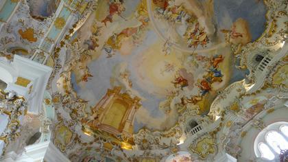 Voûte de l'église de Wies