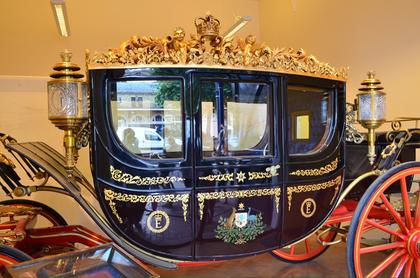 Royal carriage at the royal mews.