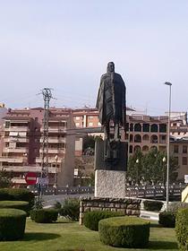 Estatua del hombre de la manta