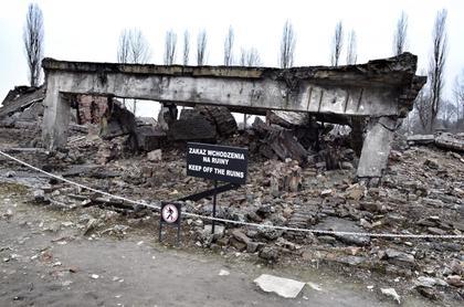 Gas chamber ruins.