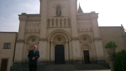 Dad outside the basilica