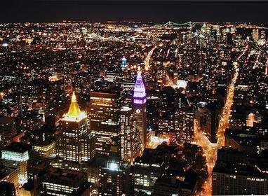 Vista nocturna desde el Empire State
