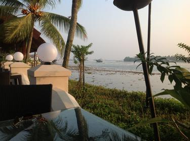 Sunset at Vivanta by Taj, Malabar Hotel. Fantastic, peaceful location away from the hustle