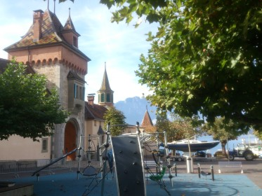 Oberhofen Castle - viewed from restaurant