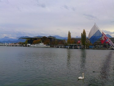 Lucerne Culture and Conference Centre - view from Seebrücke