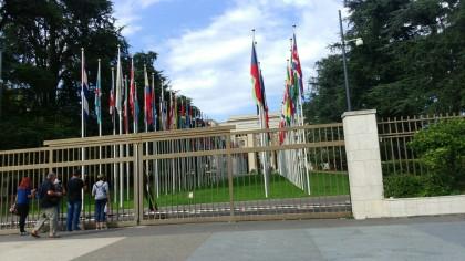 Entrée du Palais des Nations à Genève