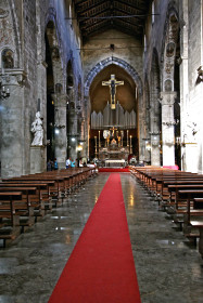Intérieur de l'Eglise Saint François d'Assise à Palerme