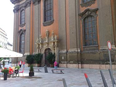 Egyeteni Templom (University Church) - nearby Egyetem tér