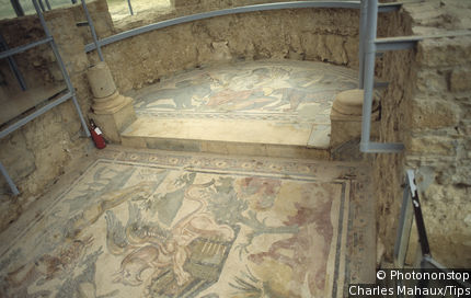 Triclinium of the Roman villa of Casale