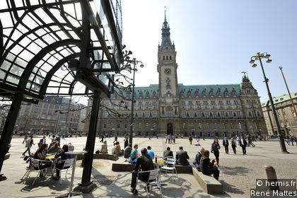 Hamburg Market Square and Town Hall