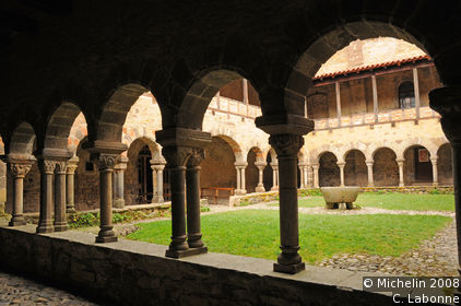 Lavaudieu Abbey cloisters