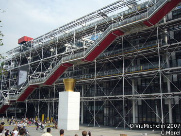 mus 233 e national d moderne centre pompidou in der gr 252 ne reisef 252 hrer michelin
