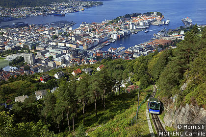Mount Fløyen and Funicular