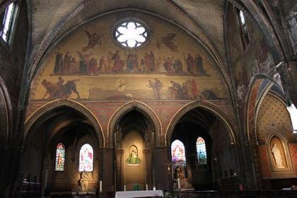 Fresque de saint Saturnin et du taureau