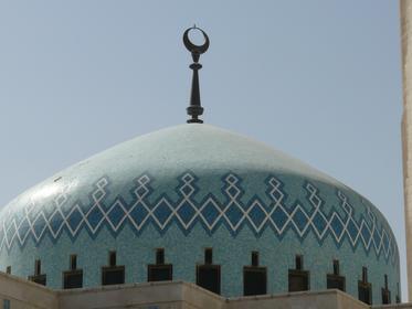 Le dôme bleu de la mosquée