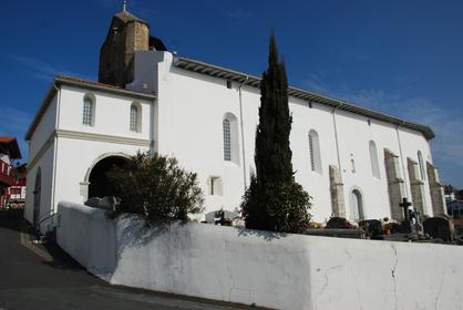 Bidart, village typique du Pays Basque : l'église