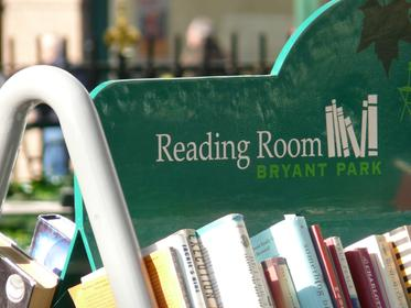 bibliothèque de plein air à Bryant Park