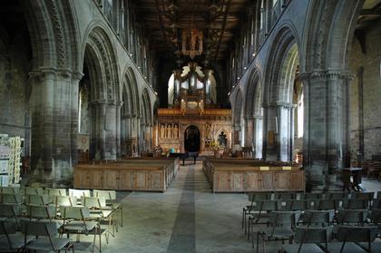 Intérieur de la cathédrale de St David's / Tyddewi