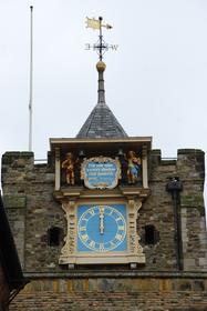 Rye : détail du clocher de l'église St-Mary