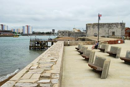 Remparts du port de Portsmouth