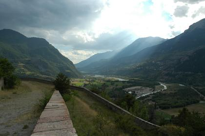 Vue sur la vallée de la Durance depuis la citadelle
