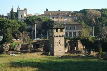 Rome : quelques vestiges à l'extrémité Est de Circo Massimo
