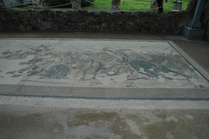 Mosaïque de la bataille d'Issos, maison du Faune à Pompéi