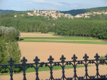 Vue de Calvignac depuis la terrasse