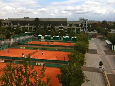 Vue panoramique du stade Roland Garros
