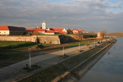 Osijek, promenade de la Drave