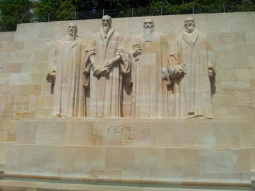 Les quatre réformateurs : Calvin, Farel, Knox, De Bèze