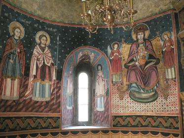 Peintures dans l'église du Monastère de Sinaia