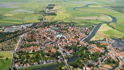 Ribe - aerial view