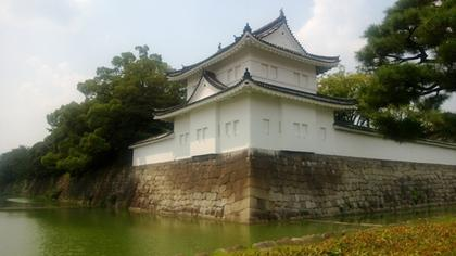 Nijo Castle from outside, showing the outer moat