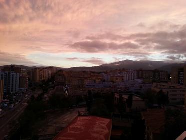 atardecer sobre Algeciras